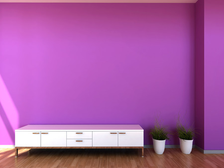 Interior scene in purple colours photo