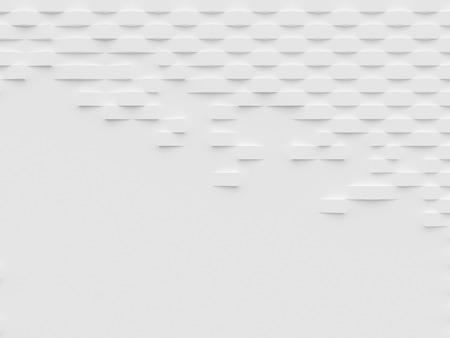 scattered: Abstract white 3D wallpaper and background