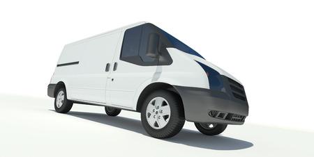 white van: Mini bus front view