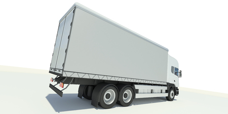 abstact: Truck back view illustration Stock Photo