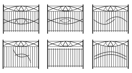 railings: Railings with symbols in vector format Illustration