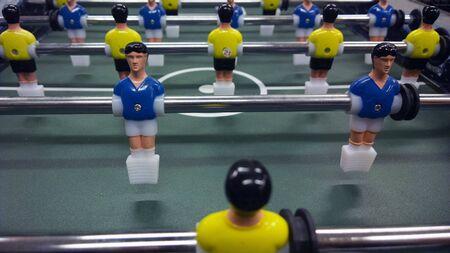 small table: Small table football Stock Photo