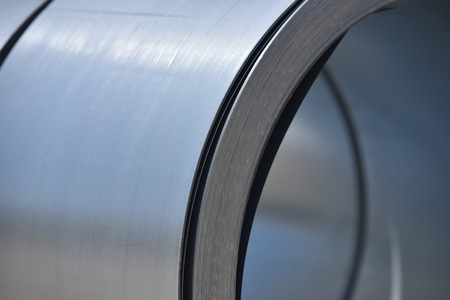 steel: Silver metal roll
