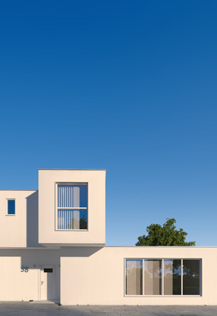 front house: Modern minimal cubic house