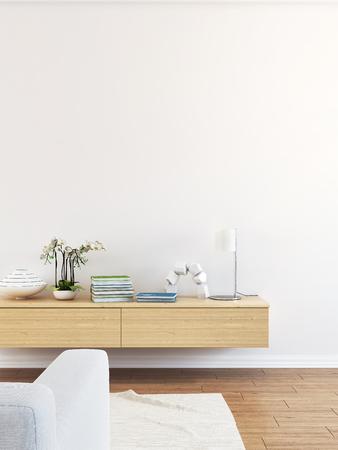 Modern living room interior scene Stock Photo