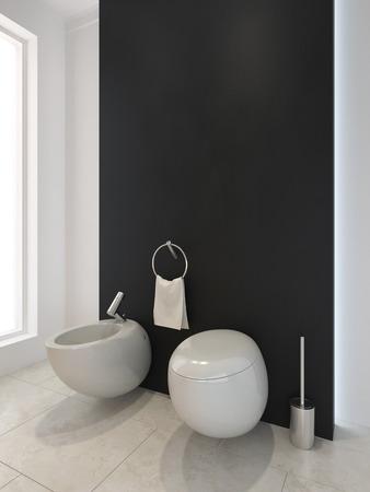 vase plaster: Modern toilet WC