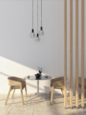 Café escena interior