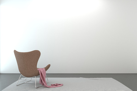 modern chair: Modern chair in empty room with composition