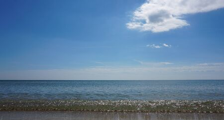 Ocean panorama with pure water