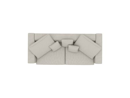 Gray sofa fabric top view