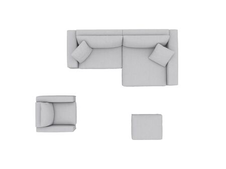 Sofa set view from above path selection