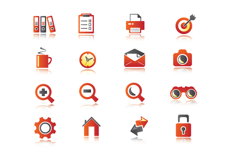 Business icons for use in presentations Vector