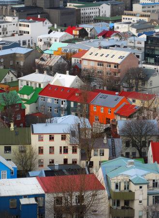 reykjavik: Casas de brillantes en un invierno Reykjavik