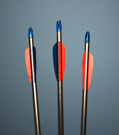 Arrows with a shallow depth of field