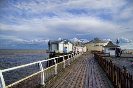 HDR image of the top of the pier in Clacton-on-Sea in England.