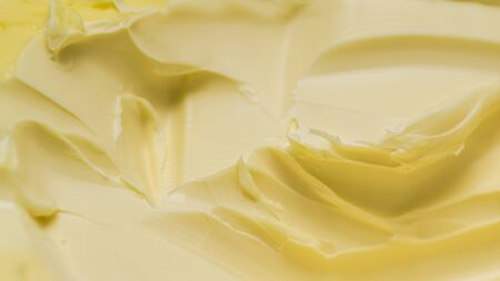 Closeup of a texture of a spreadable butter