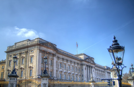 buckingham palace: HDR image of Buckingham Palace in central London. Editorial