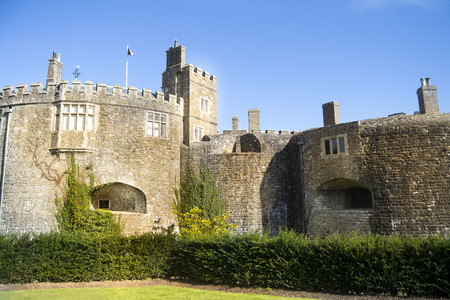 Walmer castle on a nice sunny day in England. Stock Photo