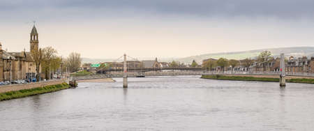 british weather: Panoramic view of the Scottish town of Inverness.