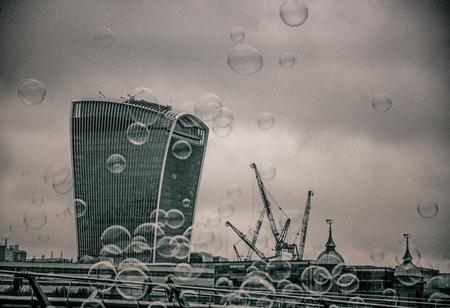 south london: Bubbles at South Bank London, England