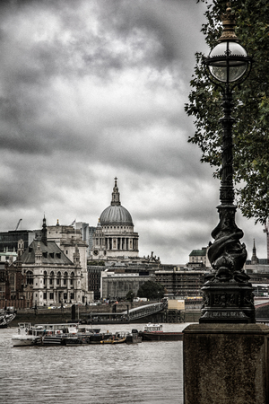 st pauls cathedral: St Pauls Cathedral in London, England, UK Stock Photo