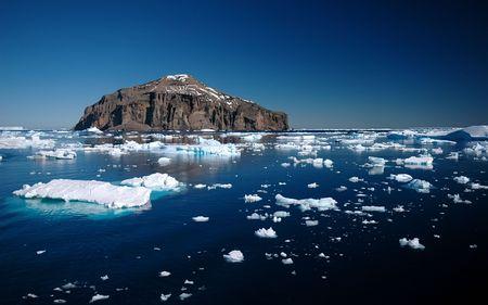 scott: Antarctic Island Stock Photo
