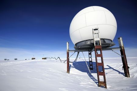 Telecommunication unit of Antarctic research station