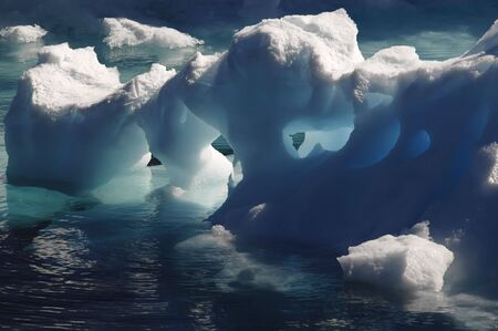 Melting Antarctic ice