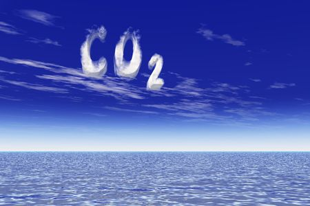 Global warming due to CO2 increase Stock Photo