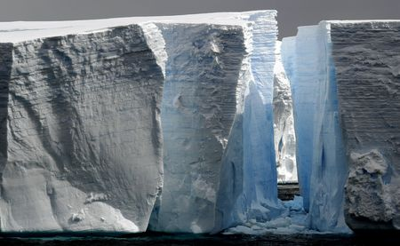 Huge icebergs with gap Stock Photo