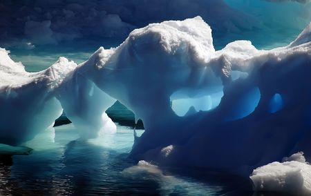 Antarctic ice caves Stock Photo - 3507352