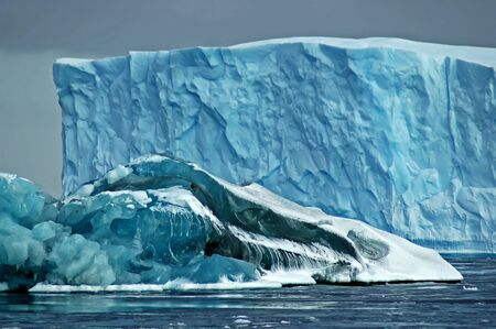 Large blue icebergs Stock Photo