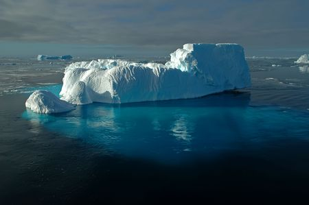 Antarctic iceberg with huge underwater part