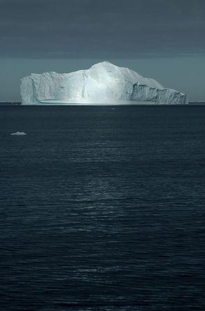 Sunbeam on iceberg
