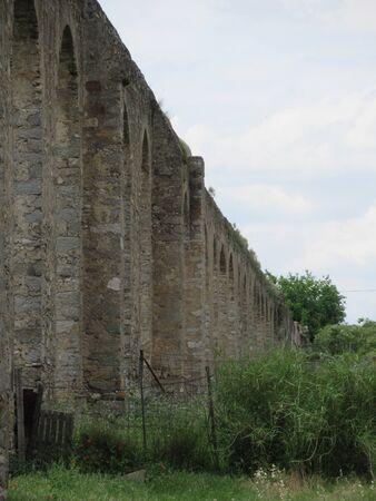 A Roman aqueduct in Evora, Portugal