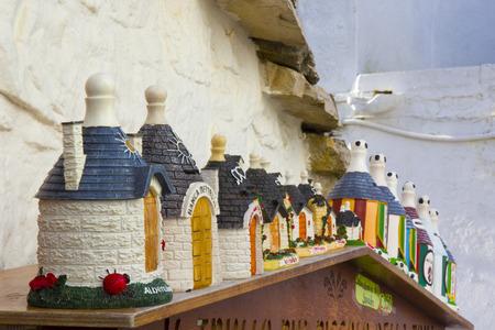 typical: Italy, Apulia, Alberobello, Trulli, typical houses. Souvenir
