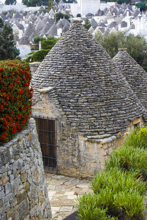 unesco: Alberobello, Apulia: the ancient district of the trulli. the UNESCO site Stock Photo