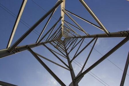 electricity pylon: Electricity Pylon. Inside view