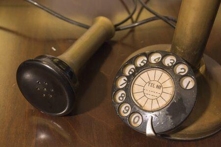 rotary: Rotary phone, old phone Stock Photo