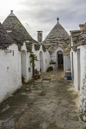 puglia: Alberobello, Puglia: Trulli, ancient district. Editorial