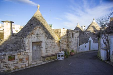 typical: Alberobello. Typical houses Stock Photo