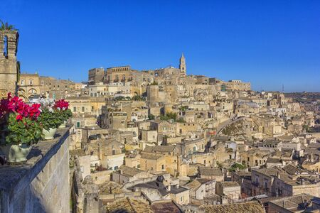 Matera, Italy: landscape of the old town (sassi di Matera) Stock Photo