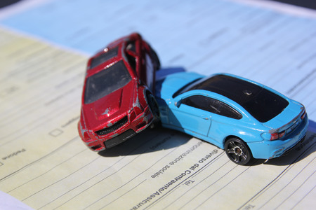 Car crash between two cars Reklamní fotografie