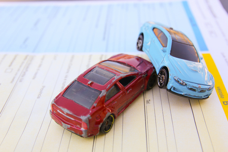 Motor vehicle collision between two cars