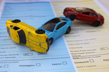 Motor vehicle collision and friendly statement form (CID)