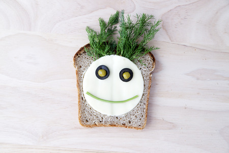 Sandwich for children with cheese and dill Фото со стока - 27116943