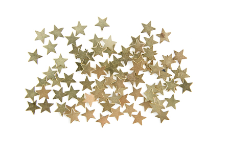 Confetti gold stars isolated on white background Фото со стока