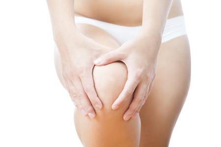 enhanced healthy: Knee pain in woman