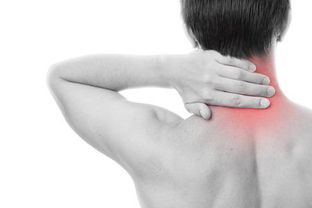 Neck pain in men. Touching the body. Фото со стока - 27217395
