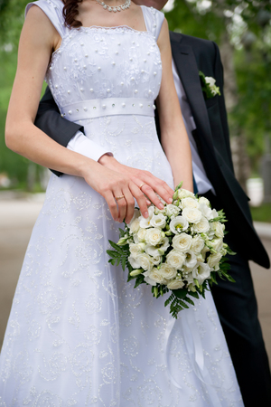 Wedding image of bride and groom. photo